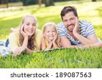 happy mother  father and... | Shutterstock . vector #189087563