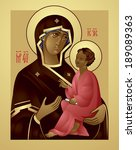 mother of god and jesus christ  ...   Shutterstock .eps vector #189089363