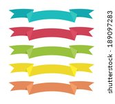 set of vector ribbons on white... | Shutterstock .eps vector #189097283