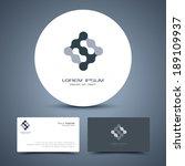 vector business card template... | Shutterstock .eps vector #189109937