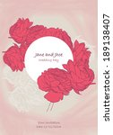beautiful floral frame for... | Shutterstock .eps vector #189138407
