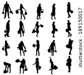 vector silhouette of a people... | Shutterstock .eps vector #189150017