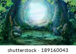romantic forest landscape | Shutterstock . vector #189160043