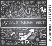 hand drawn business icons set.... | Shutterstock .eps vector #189173993
