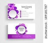 modern violet round business... | Shutterstock .eps vector #189181787