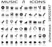 music icons | Shutterstock .eps vector #189202547