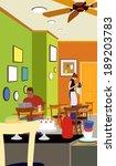 illustration of cafe | Shutterstock . vector #189203783