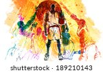 illustration of sports high five   Shutterstock . vector #189210143