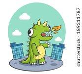 dinosaur city monster dragon... | Shutterstock .eps vector #189211787