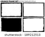 grunge frame set. vector... | Shutterstock .eps vector #189212513