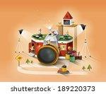 illustration of imagination and ...   Shutterstock . vector #189220373