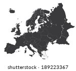 high detailed map of europe | Shutterstock .eps vector #189223367