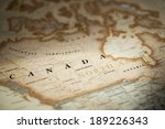 magnifying canada on map | Shutterstock . vector #189226343