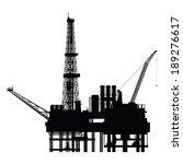 silhouette of oil platform ... | Shutterstock .eps vector #189276617