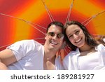 happy young couple have fun and ... | Shutterstock . vector #189281927