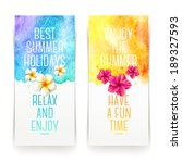 summer holidays watercolor... | Shutterstock .eps vector #189327593