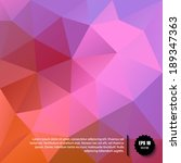 vector abstract red   purple... | Shutterstock .eps vector #189347363