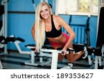 woman training press in the gym | Shutterstock . vector #189353627