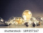 a light bulb that stable and... | Shutterstock . vector #189357167