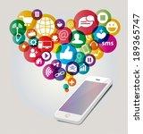 social media concept vector... | Shutterstock .eps vector #189365747