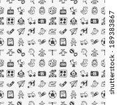 seamless doodle toy pattern | Shutterstock .eps vector #189383867
