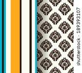 damask scrapbook paper    Shutterstock .eps vector #189393107