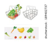 grocery basket | Shutterstock .eps vector #189402737