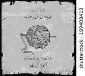 boll of wool  | Shutterstock .eps vector #189408413