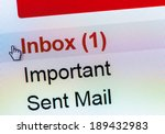 Stock photo monitor screen showing email in the inbox 189432983