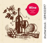 wine vintage background with...   Shutterstock .eps vector #189433397