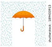 rain and umbrella | Shutterstock .eps vector #189433913