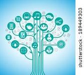 social media tree network... | Shutterstock .eps vector #189449303