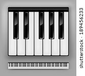 Vector Piano Keyboard. One...