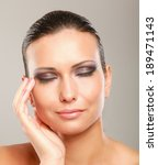 portrait of beautiful woman ... | Shutterstock . vector #189471143