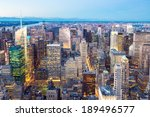 new york city skyline with... | Shutterstock . vector #189496577