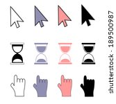 cursors icons | Shutterstock .eps vector #189500987