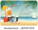 vector summer background with...   Shutterstock .eps vector #189507293
