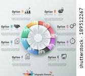 modern infographics options... | Shutterstock .eps vector #189512267