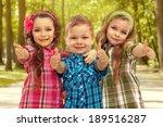 cute fashion kids showing... | Shutterstock . vector #189516287