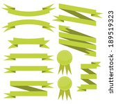 vector set of flat cute green...