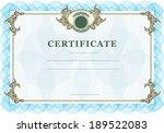 certificate with vintage design ...   Shutterstock . vector #189522083