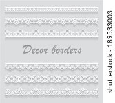 lace decor borders for vector... | Shutterstock .eps vector #189533003