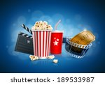 popcorn box  disposable cup for ... | Shutterstock .eps vector #189533987