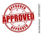 Approved Grunge Rubber Stamp O...