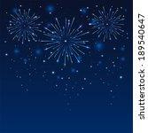 shiny firework on the dark blue ...   Shutterstock .eps vector #189540647