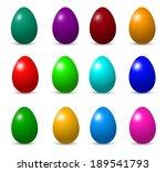 easter eggs | Shutterstock .eps vector #189541793