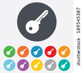 key sign icon. unlock tool... | Shutterstock .eps vector #189545387
