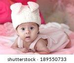 portrait of a cute little girl...   Shutterstock . vector #189550733