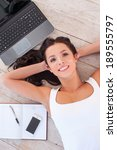working at the computer. top... | Shutterstock . vector #189555797