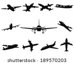 airplane silhouettes | Shutterstock .eps vector #189570203